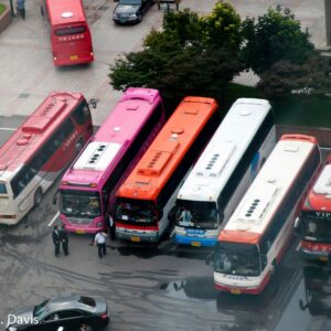Bus Lot in Korea