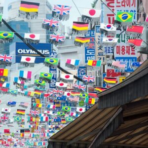Flags at the Korean Market