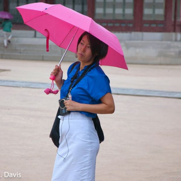 Korean Woman in the Rain