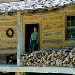 Log Cabin Woman
