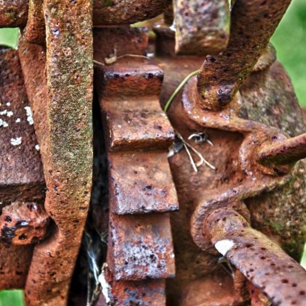 Gears of an old Dump Rake