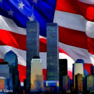 WTC with Flag