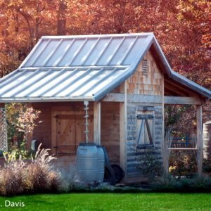 Garden shed in Fall