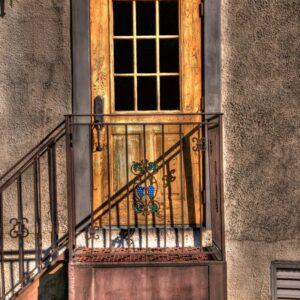 Back door of the winery